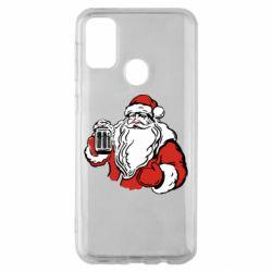 Чехол для Samsung M30s Santa Claus with beer