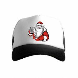 Детская кепка-тракер Santa Claus with beer