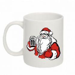 Кружка 320ml Santa Claus with beer
