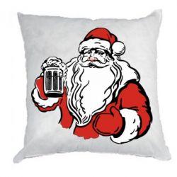 Подушка Santa Claus with beer