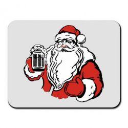Коврик для мыши Santa Claus with beer