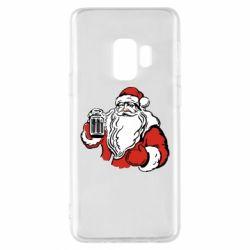 Чехол для Samsung S9 Santa Claus with beer