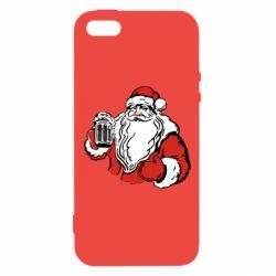 Чехол для iPhone5/5S/SE Santa Claus with beer