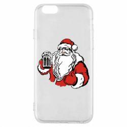 Чехол для iPhone 6/6S Santa Claus with beer