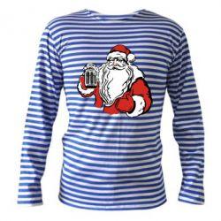 Тельняшка с длинным рукавом Santa Claus with beer