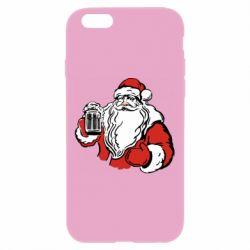 Чехол для iPhone 6 Plus/6S Plus Santa Claus with beer
