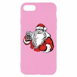 Чехол для iPhone 7 Santa Claus with beer