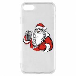 Чехол для iPhone 8 Santa Claus with beer