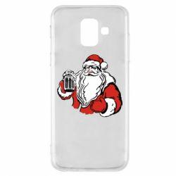 Чехол для Samsung A6 2018 Santa Claus with beer
