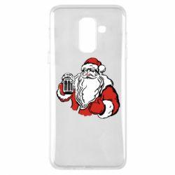 Чехол для Samsung A6+ 2018 Santa Claus with beer