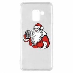 Чехол для Samsung A8 2018 Santa Claus with beer