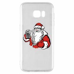 Чехол для Samsung S7 EDGE Santa Claus with beer