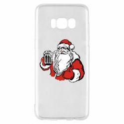 Чехол для Samsung S8 Santa Claus with beer