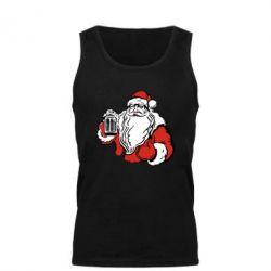 Мужская майка Santa Claus with beer