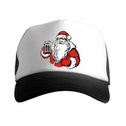 Кепка-тракер Santa Claus with beer