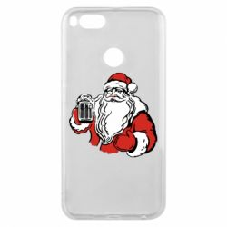 Чехол для Xiaomi Mi A1 Santa Claus with beer