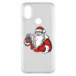 Чехол для Xiaomi Mi A2 Santa Claus with beer