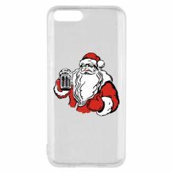 Чехол для Xiaomi Mi6 Santa Claus with beer
