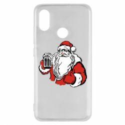 Чехол для Xiaomi Mi8 Santa Claus with beer
