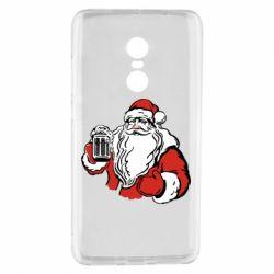 Чехол для Xiaomi Redmi Note 4 Santa Claus with beer