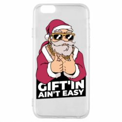 Чехол для iPhone 6/6S Santa gangster