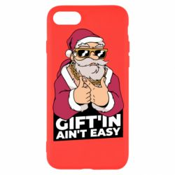 Чехол для iPhone 8 Santa gangster