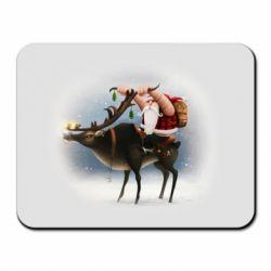 Килимок для миші Santa in tattoos riding a deer