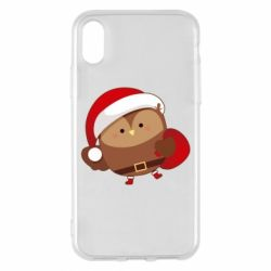 Чехол для iPhone X/Xs Santa Owl