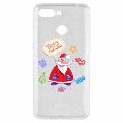 Чехол для Xiaomi Redmi 6 Santa says merry christmas