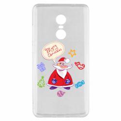 Чехол для Xiaomi Redmi Note 4x Santa says merry christmas