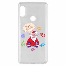 Чехол для Xiaomi Redmi Note 5 Santa says merry christmas