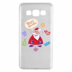 Чехол для Samsung A3 2015 Santa says merry christmas