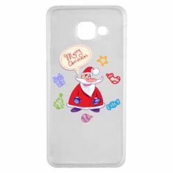Чехол для Samsung A3 2016 Santa says merry christmas