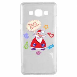 Чехол для Samsung A5 2015 Santa says merry christmas