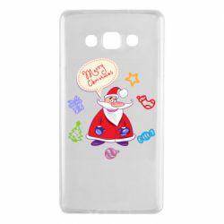 Чехол для Samsung A7 2015 Santa says merry christmas
