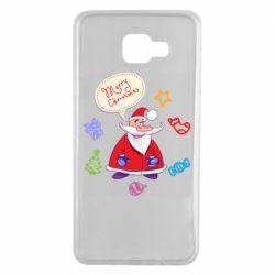 Чехол для Samsung A7 2016 Santa says merry christmas