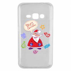 Чехол для Samsung J1 2016 Santa says merry christmas