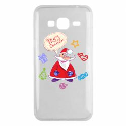 Чехол для Samsung J3 2016 Santa says merry christmas