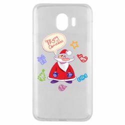 Чехол для Samsung J4 Santa says merry christmas