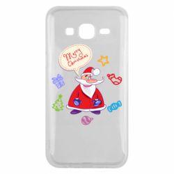 Чехол для Samsung J5 2015 Santa says merry christmas