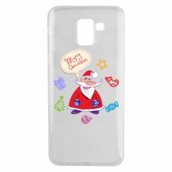 Чехол для Samsung J6 Santa says merry christmas