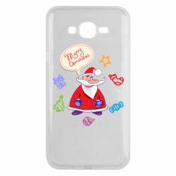 Чехол для Samsung J7 2015 Santa says merry christmas