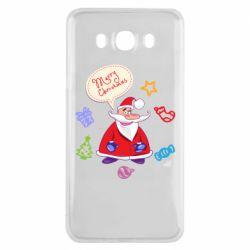 Чехол для Samsung J7 2016 Santa says merry christmas