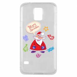 Чехол для Samsung S5 Santa says merry christmas
