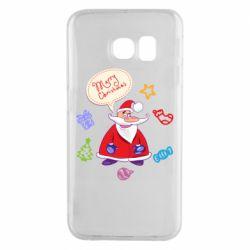 Чехол для Samsung S6 EDGE Santa says merry christmas