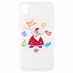 Чехол для iPhone XR Santa says merry christmas