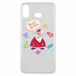 Чехол для Samsung A6s Santa says merry christmas