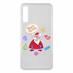 Чехол для Samsung A7 2018 Santa says merry christmas