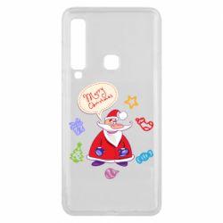 Чехол для Samsung A9 2018 Santa says merry christmas