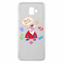 Чехол для Samsung J6 Plus 2018 Santa says merry christmas